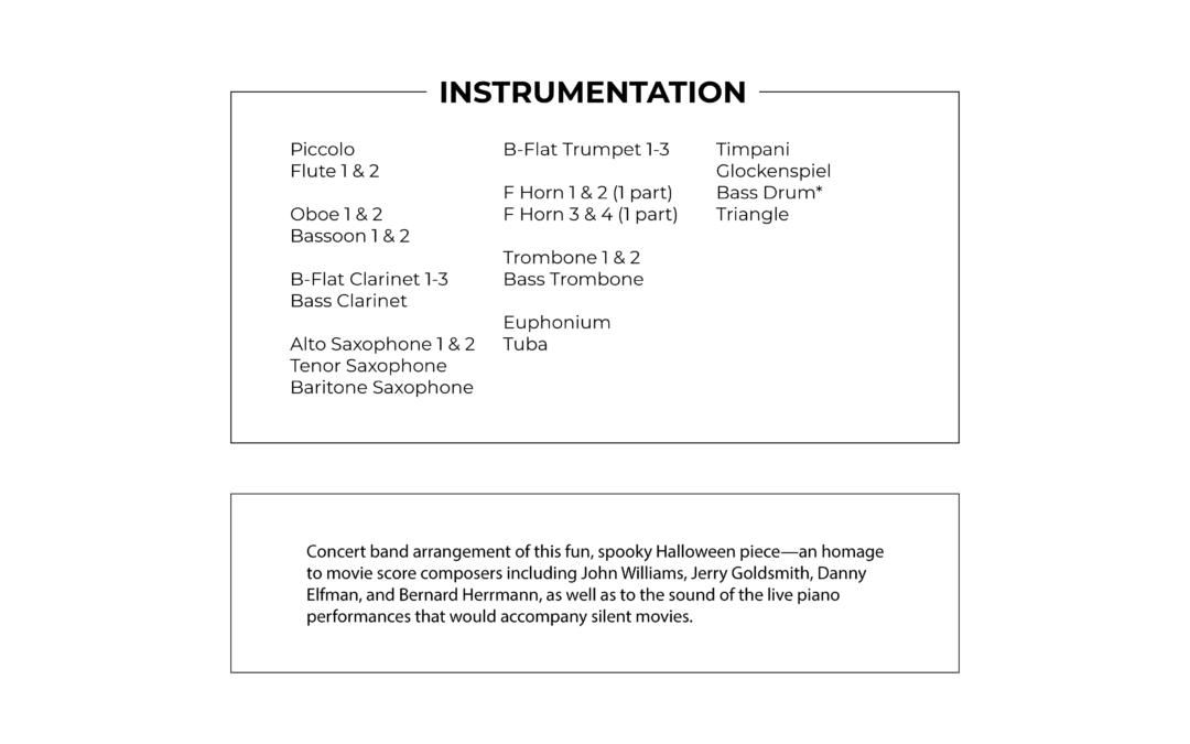 Dance of the Monsters Under the Bed - Concert Band arrangement by Arthur Breur