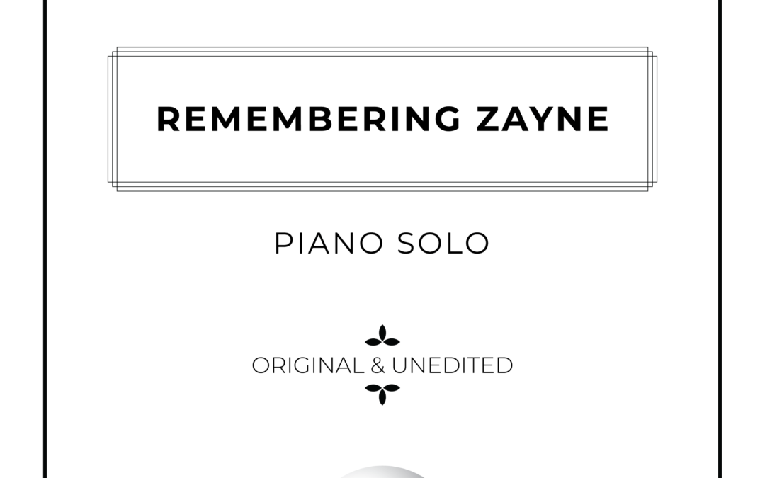 Remembering Zayne - Piano Solo Sheet Music - Arthur Breur