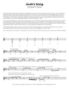 Avah's Song - Composer's Notes